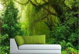 Tropical Waterfall Murals Custom Wallpaper 3d Tropics forests Waterfall Tree Jungle Nature
