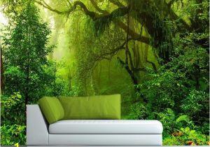 Tropical Waterfall Murals Custom Wallpaper 3d Tropics forests Waterfall Tree Jungle Nature