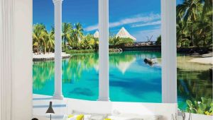 Tropical Window Wall Mural Details About Wall Mural Photo Wallpaper 2357p Beach