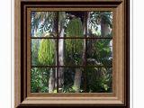 Tropical Window Wall Mural Fake Window View Tropical Trees Mural Wall Mural Wall