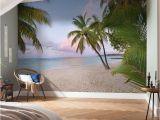 "Tropical Window Wall Mural Komar Paradise Morning 12 08 X 98"" Wall Mural"