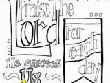 """Trust God Coloring Page Free Printable Scripture Coloring Page """"praise the Lord for Each"""