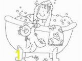 Tub Coloring Page Free Dearie Dolls Digi Stamps Bathtub Lady
