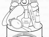 Tub Coloring Page Personalized Printable Rainbow Spa Party Cake Favor Childrens Kids