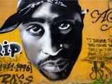 Tupac Wall Mural Lisbonne Amoreiras Hall Of Fame Graffiti Mur Tªte Tupac Shakur Par