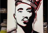 Tupac Wall Mural Tupac Art Artist Canvas Paint Painting Tupac Shakur 2pac