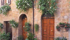 Tuscan Villa Wall Murals Pienza Doors Pienza Italy Doors