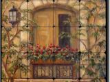 Tuscan Wall Mural Kit How About Tuscan Floral Tumbled Marble Tile Mural Backsplash 20 X 16