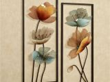 Tuscan Wall Murals for Cheap Tuscany In Bloom Floral Metal Wall Art Set