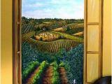Tuscan Wall Murals Kitchen Tuscan Vineyard Mural