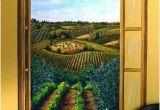 Tuscany Wall Murals Tuscan Vineyard Mural