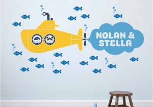 Twin Walls Mural Company Submarine Twin Wall Decal