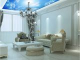 Type Of Paint for Wall Mural Custom Murals 3d Blue Sky Ceiling Wallpaper Mural Wall