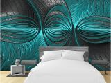 Types Of Murals On Walls Modern 3d Wall Papers Turquoise Green Wall Painting Wallpaper