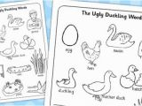 Ugly Duckling Coloring Pages Ugly Duckling Words Colouring Sheet Colouring Sheet Ugly