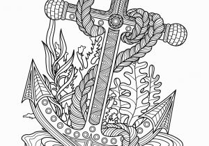 Under the Sea Coloring Pages Printable Anchor Sea Coloring Page