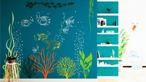 Under the Sea Murals for Walls Underwater Wall Decal Under the Sea Aquarium Vinyl Art