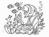Under the Sea Printable Coloring Pages Coral Coloring Pages Kids for Girls In Snazzy Page Printable