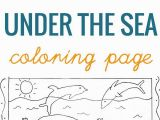 Under the Sea Printable Coloring Pages Under the Sea Coloring Page