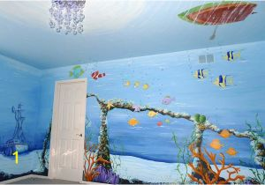 Underwater Mural Ideas Underwater Baby Nursery Mural Underwater Murals Pinterest