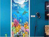 Underwater Ocean Wall Murals Amazon Twjydp Door Sticker Creative Diy Waterproof Self