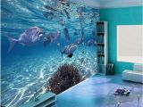 Underwater Ocean Wall Murals Custom Photo Wallpaper 3d Stereoscopic Underwater World Of