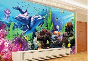 Underwater Wall Murals Uk Any Size Underwater World Aquarium 3d 3d Tropical Fish Tv Wall