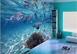 Underwater Wall Murals Uk Pas Cher Personnalisée Fond D écran 3d Stéréoscopique Monde