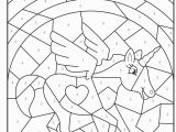 Unicorn Color by Number Coloring Pages Christmas Colour by Numbers