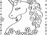 Unicorn Color by Number Coloring Pages Unicorn Dot to Dot
