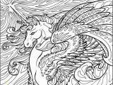 Unicorn Coloring Pages for Adults Detailed Unicorn Coloring Page for Adults