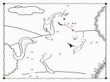Unicorn Dot to Dot Coloring Pages Unicorn Connect the Dots Coloring Page Free