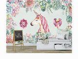 Unicorn Mural Wall Art Zxddzl Fertigen Sie 3d Tapete Besonders An Modernes