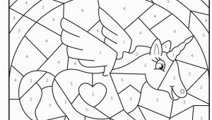 Unicorn Number Coloring Games Online Free Printable Magical Unicorn Colour by Numbers Activity