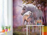Unicorn Wall Mural Ebay Wall Mural Photo Wallpaper Fleece Pink Floral Diamond