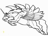 Unicorn with Wings Coloring Page Unicorn Flying Coloring Pages Line