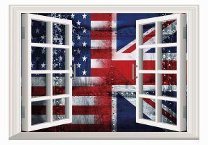 Union Jack Wall Mural Amazon Scocici Window Mural Wall Sticker Union Jack