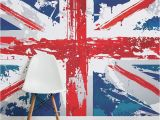 Union Jack Wall Mural Painted Union Jack Wall Mural