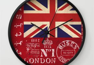 Union Jack Wall Mural Union Jack Great Britain Flag Wall Clock