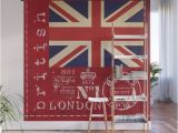 Union Jack Wall Mural Union Jack Great Britain Flag Wall Mural
