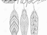 Unique Bohemian Coloring Pages for Adults Bohemian Arrow Hand Drawn Amulet with Letters Hope with