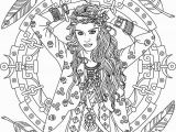 Unique Bohemian Coloring Pages for Adults Boho Coloring Page