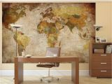 Us Map Wall Mural Details About Vintage World Map Wallpaper Mural Giant