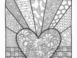 Valentine S Day Mandala Coloring Pages Coloring Page Valentines Day Abstract Doodle Zentangle Paisley