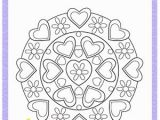 Valentine S Day Mandala Coloring Pages Heart Mandala Fun Valentine S Day Coloring Pages