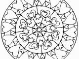 Valentine S Day Mandala Coloring Pages Love Mandala Coloring Pages Courtoisieng