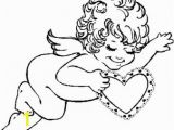 Valentines Day Print Out Coloring Pages Print Out Valentines Day Cupid with Hearts Coloring Page Childrens Printable Coloring Pages