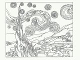 Van Gogh Starry Night Coloring Page the Starry Night Coloring Page Coloring Home