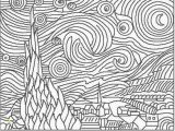 Van Gogh Starry Night Coloring Page the Starry Night Vincent Van Gogh Born March Groot