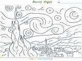Van Gogh Starry Night Coloring Page Van Gogh Starry Night Coloring Page Coloring Pages